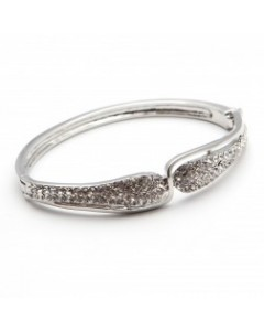 Espree Rhodium Plated Pave CZ Bangle 1580