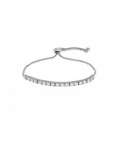Espree Rhodium Plated CZ Princess Bracelet 1732