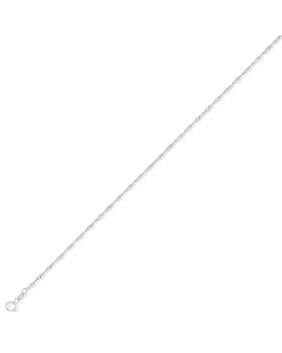 9ct White Gold Singapore Ankle Chain CN445-09