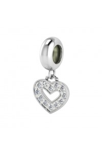 Endless Sterling Silver JLO 'Dreamy Heart' CZ Infinity Drop Bead 3370