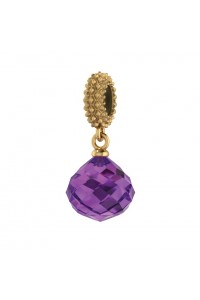 Endless Gold Plated Sterling Silver JLo 'Amethyst Mysterious Drop' Infinity Bead Charm 3801-1
