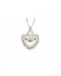 Espree Sterling Silver CZ Heart Moveable Pendant 5465