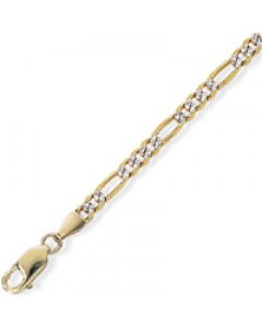 9ct Gold Frosted Figaro Ankle Chain CN511-09