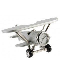 Miniature Chrome Plated Bi-Plane Clock 9132