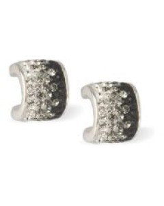 Byzantium Crystal Huggies Stud Earrings 861