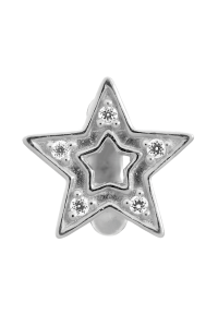 Endless Sterling Silver JLO 'Shiny Star' CZ Bead 1175