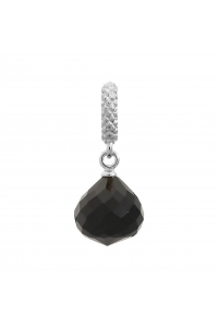 Endless Sterling Silver JLO 'Mysterious' Black CZ Drop Bead 1301-2
