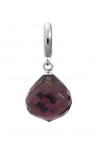Endless Sterling Silver JLO 'Love' Amethyst CZ Drop Bead 1351-1