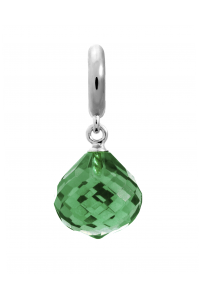 Endless Sterling Silver JLO 'Love' Emerald CZ Drop Bead 1351-5