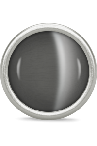 Endless Sterling Silver Big 'Love Dome' Grey Moon Stone Bead 41365-2