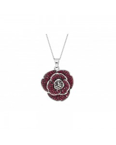 Espree Rhodium Plated Crystal Poppy Pendant 1919