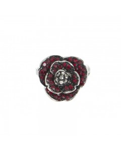 Espree Rhodium Plated Crystal Poppy Pin 1921