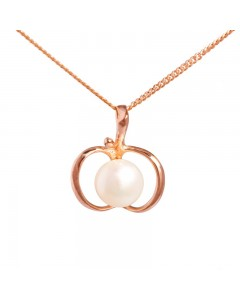 Espree Rose Gold Plated Sterling Silver FW Pearl Apple Pendant 5385