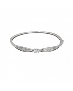 Espree Sterling Silver CZ Solitaire Bangle 5568