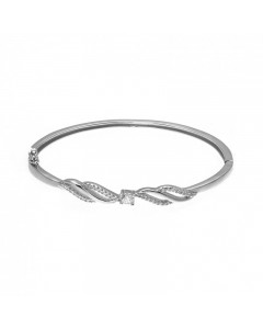 Espree Sterling Silver CZ Solitaire Bangle 5576