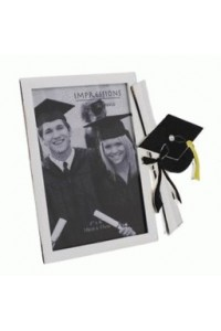 "Silver Plated 6x4"" Graduation Photograph Frame FS300"