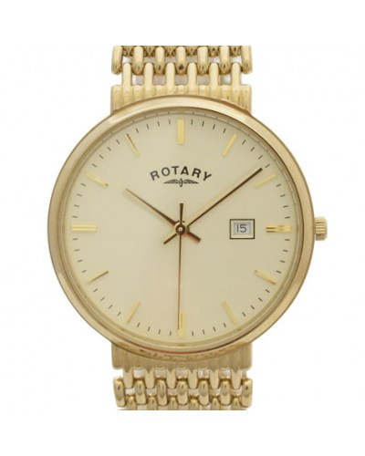 Rotary Gents 9ct Gold Bracelet Watch GB10900/03