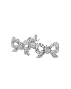 Georgini Sterling Silver Cubic Zirconia Bow Stud Earrings E372W