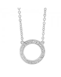 Georgini Sterling Silver Cubic Zirconia Circle Necklet P460