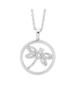Georgini Sterling Silver Cubic Zirconia Dragonfly Pendant P466W