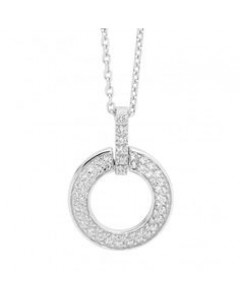 Georgini Sterling Silver CZ Circle Swing Pendant P528