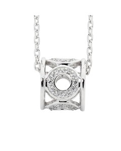 Georgini Sterling Silver CZ Barrel Pendant P560