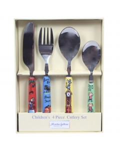 Martin Gulliver Nursery Rhymes 4 Piece Cutlery Set