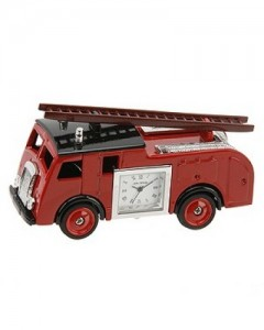 Miniature Fire Engine Mantel Clock 9860