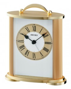 Seiko Gilt Carriage Clock QHE092G