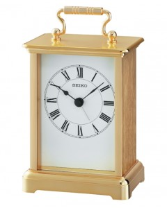 Seiko Gilt Carriage Clock QHE093G