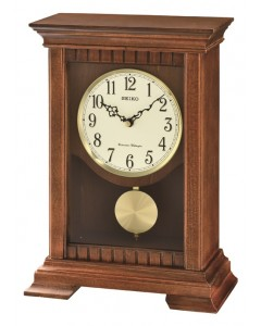Seiko Wooden Striking Mantel Clock QXQ029B