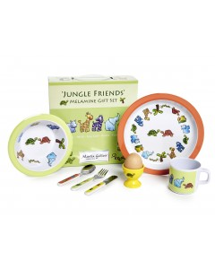Martin Gulliver Jungle Friends 7 Piece Melamine Set