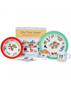 Martin Gulliver On The Farm 7 Piece Melamine Set
