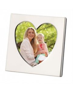"Sterling Silver Heart 2.5x2.5"" Photograph Frame SLHT6"