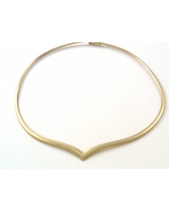 9ct Gold Graduated Omega Collar Necklet 1206526