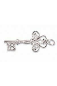 Sterling Silver 18th Key Charm SC1005