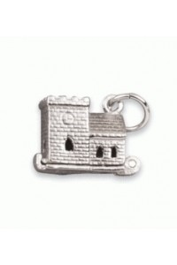Sterling Silver Church With Tower Charm SC1427