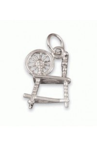 Sterling Silver Small Spinning Wheel Charm SC1904