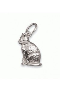 Sterling Silver Cat Charm SC2070