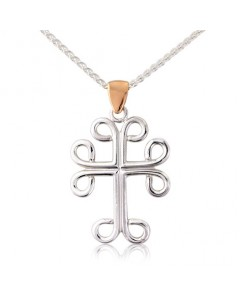 Cymru Gold Sterling Silver And 9ct Gold St. David's Cross SWP49