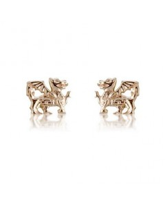 Cymru Gold 9ct Gold Mini Welsh Dragon Stud Earrings WE128
