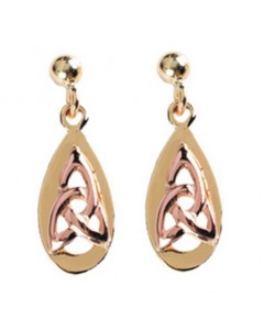 Cymru Gold 9ct Gold Celtic Teardrop Earrings WE25