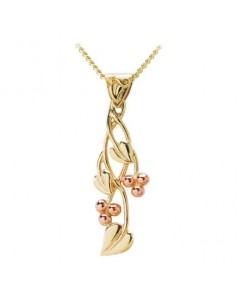 Cymru Gold 9ct Gold Tree Of Life Drop Pendant WP24