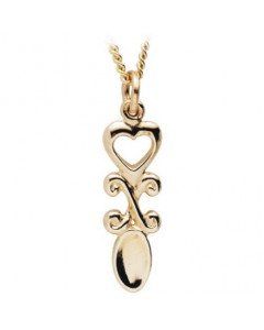 Cymru Gold 9ct Rose Gold Lovespoon Pendant WP60R
