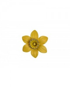 18ct Gold Plated Small Daffodil Brooch B6610 Gold