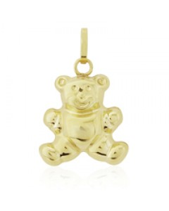 9ct Gold Teddy Bear Charm FA540
