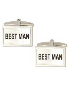Rhodium Plated Best Man Cufflinks 90 0226