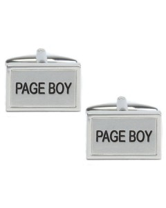 Rhodium Plated Pageboy Cufflinks 90 1467