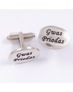 Pewter Gwas Priodas (Best Man) Cufflinks CC155T