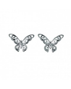 Hot Diamonds Sterling Silver 'Levanter' Butterfly Earrings DE284